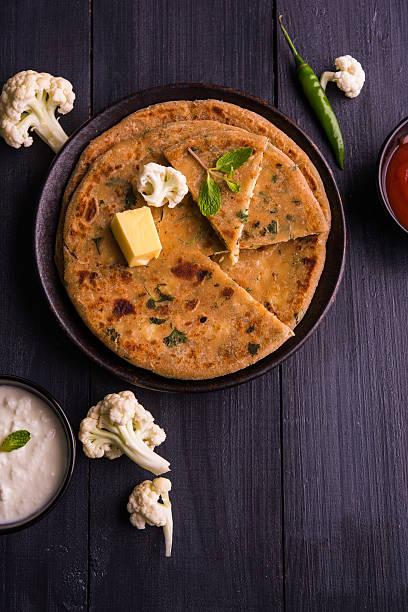gobi paratha or cauliflower parotha – Foto