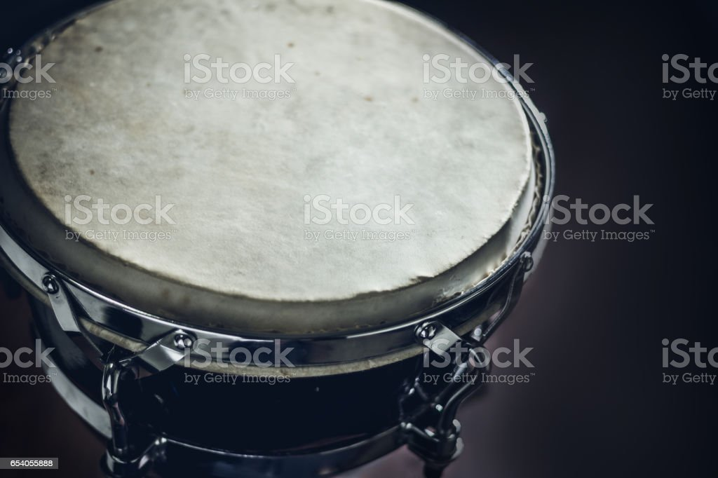 Goblet drum, percussion musical instrument stock photo