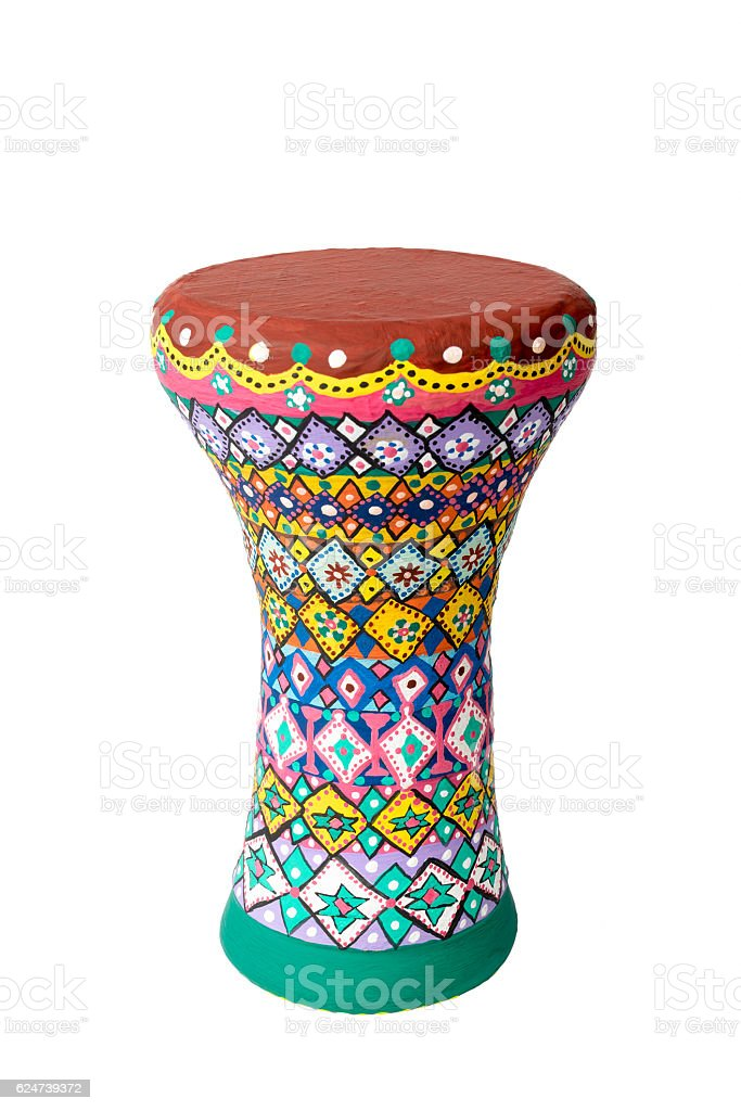 Goblet drum (also chalice drum, tarabuka, darbuka, debuka) stock photo
