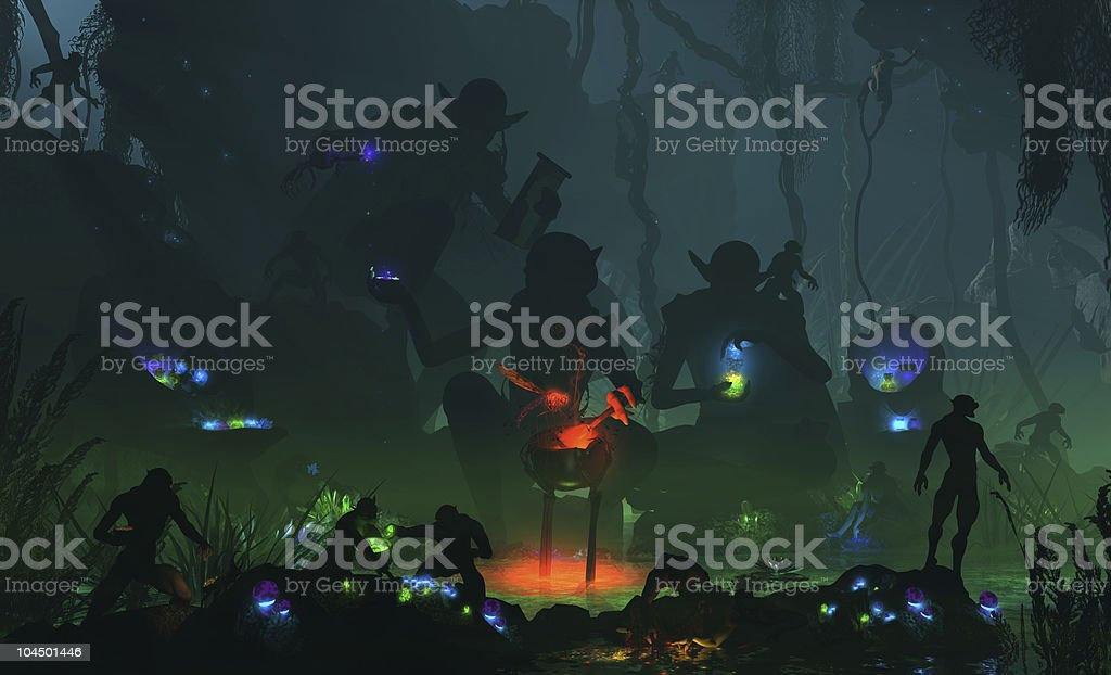 Goblin Mystics stock photo