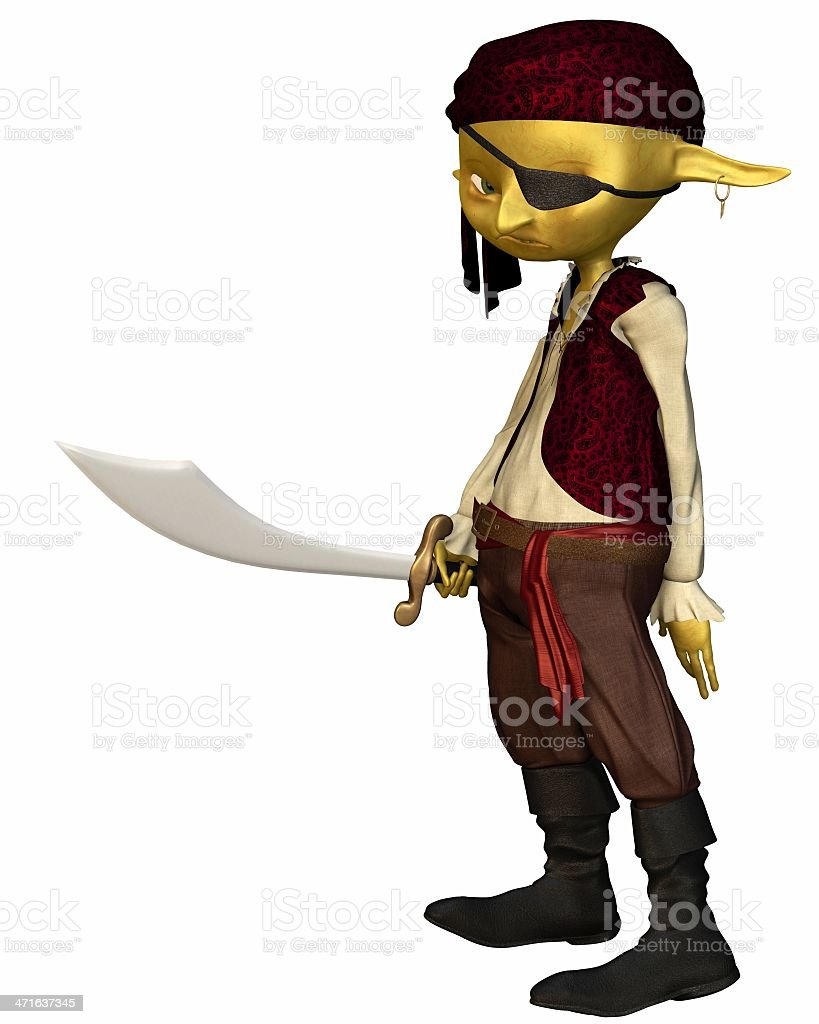 Goblin Pirate stock photo
