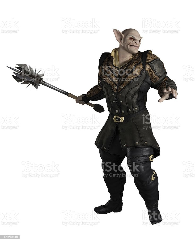 Goblin Prince with Mace stock photo