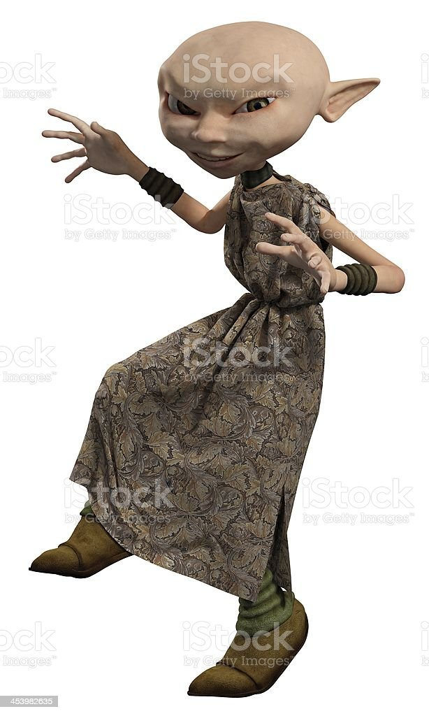 Goblin Servant Girl, Sneaking stock photo
