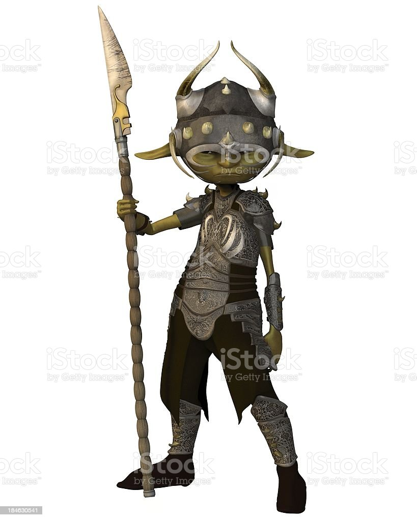 Goblin Soldier stock photo