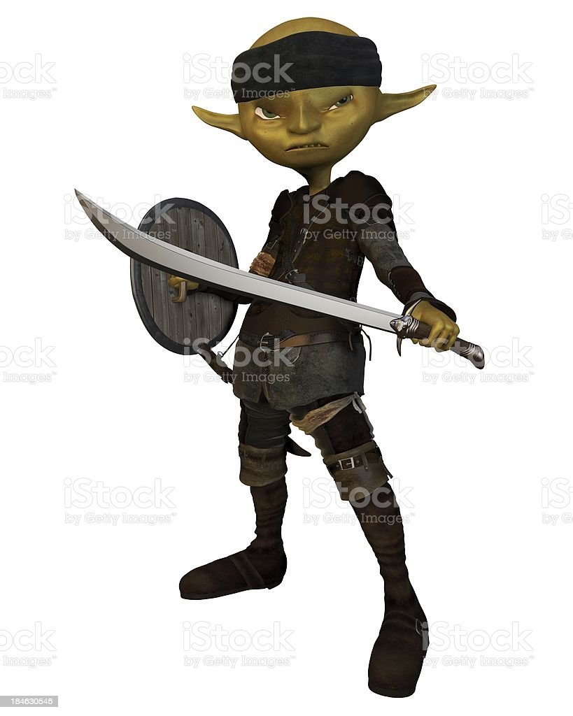 Goblin Swordsman royalty-free stock photo