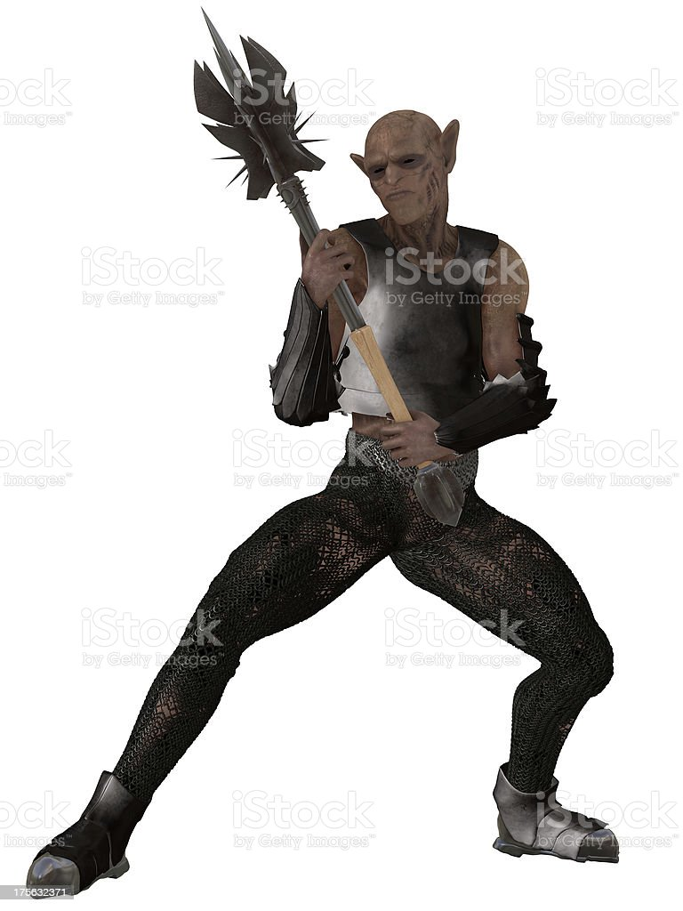 Goblin warrior stock photo
