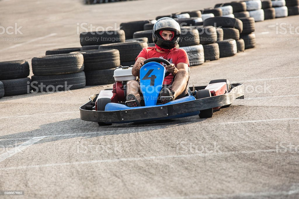 Go-cart racing stock photo