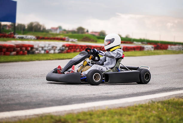 Go-carting. stock photo