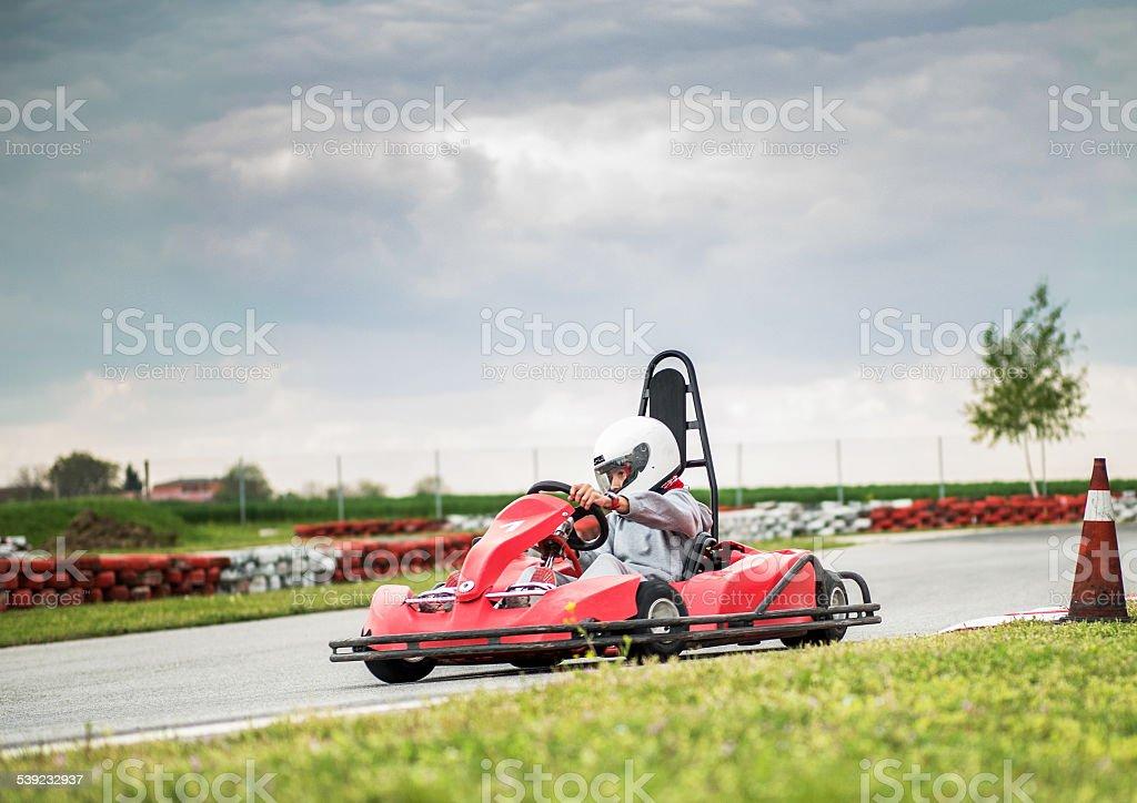 Go-carting. royalty-free stock photo