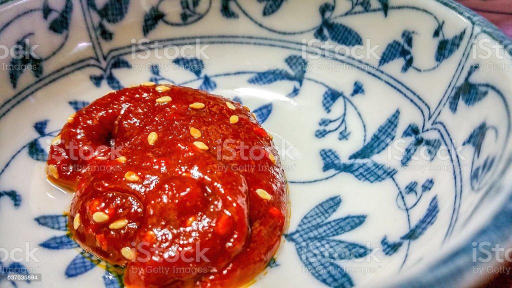 Gochujang - Korean spicy chilli paste stock photo
