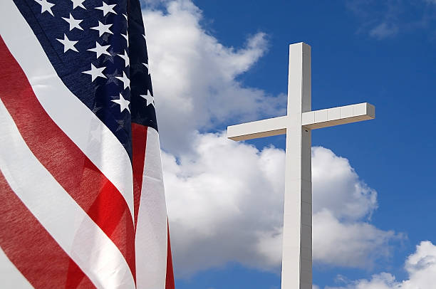 God and Country stock photo