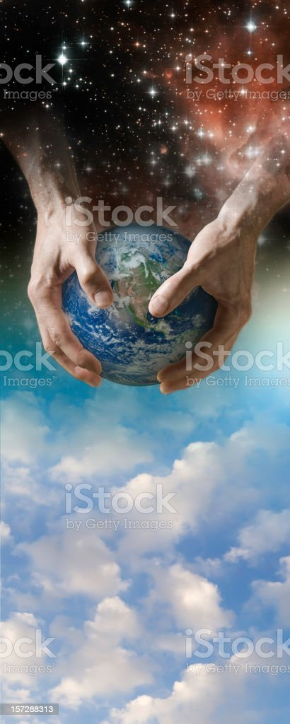 God and Creation (XL) stock photo