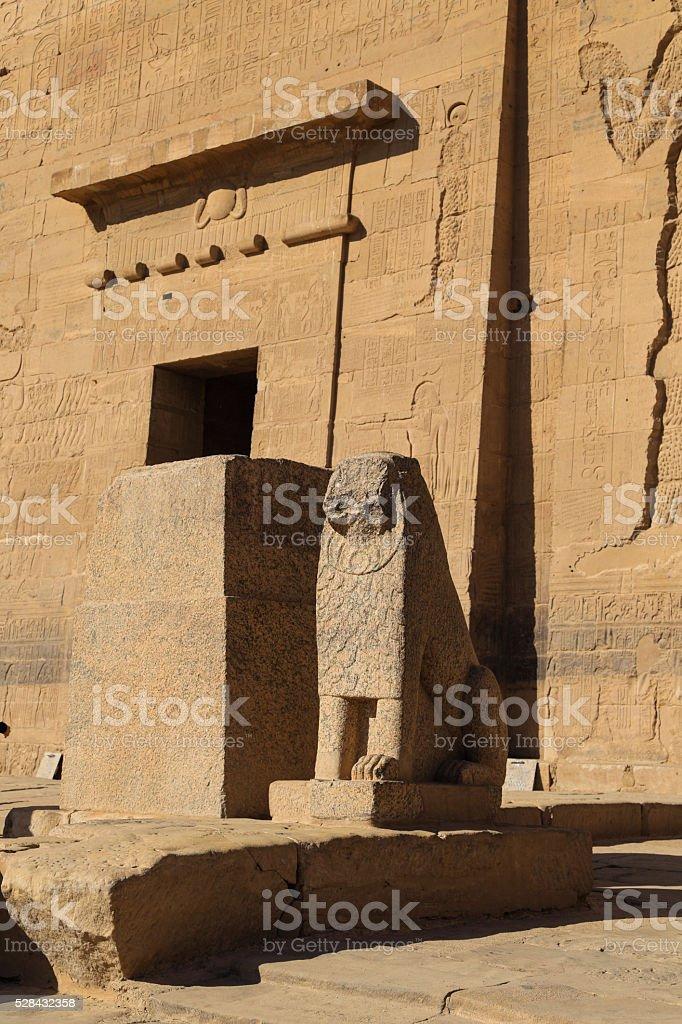 god beast before the karnak temple stock photo