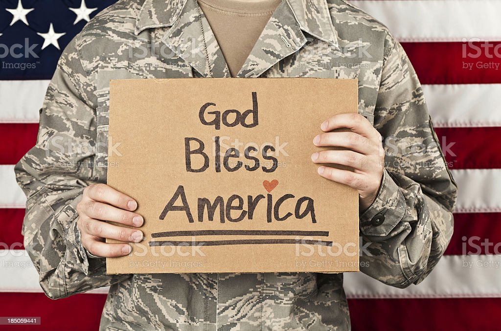 God Bless America royalty-free stock photo