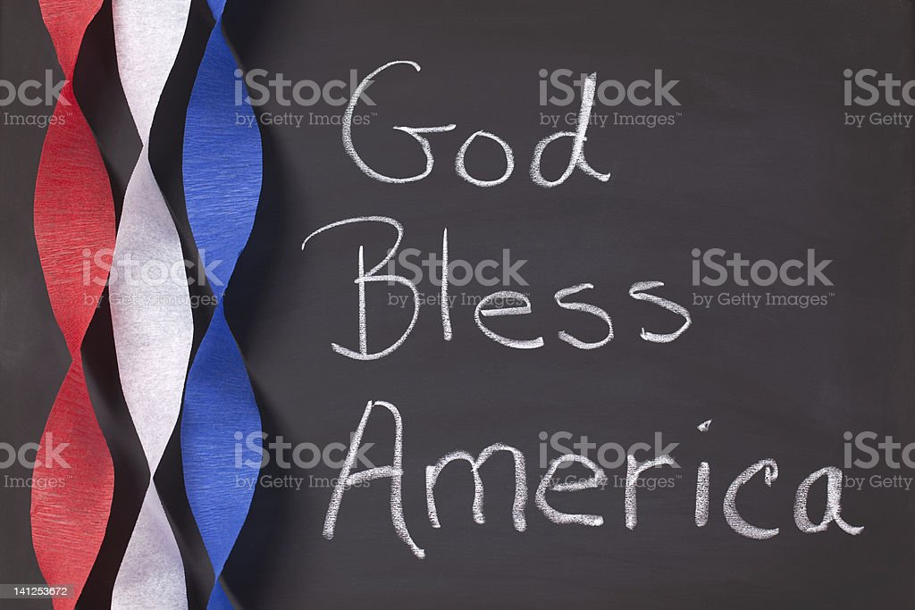 God Bless America Sign stock photo