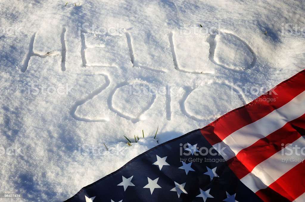 God bless the USA in 2010 royalty-free stock photo