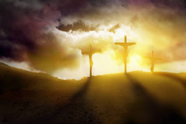 God blessing Jesus stock photo
