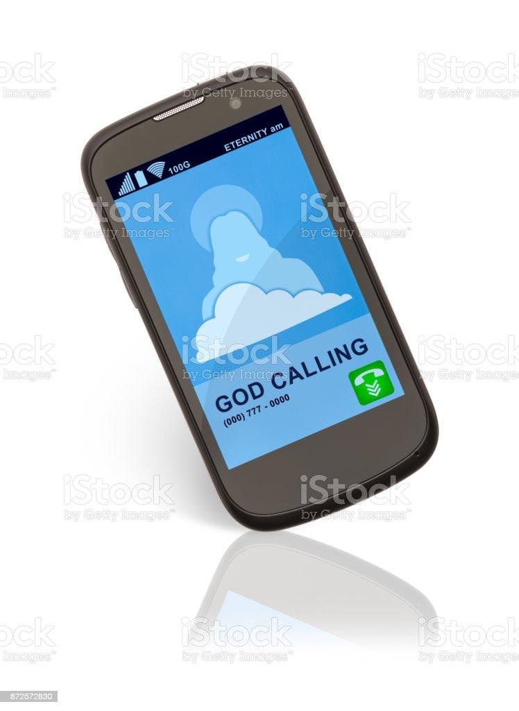 God Calling stock photo