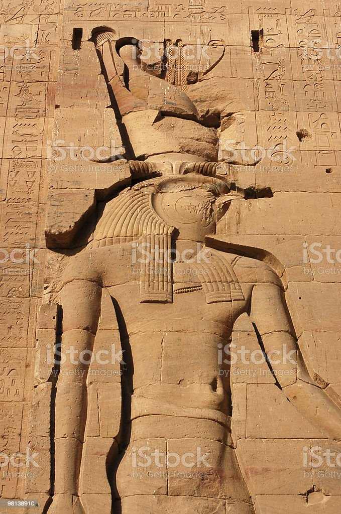 God Horus carving royalty-free stock photo