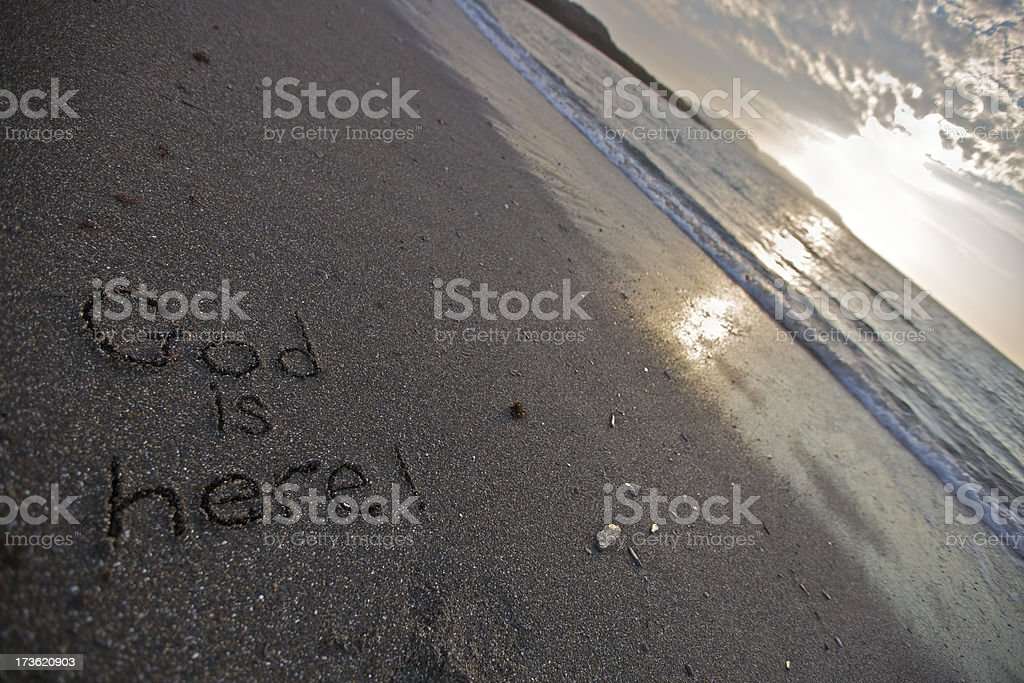 God is here (XXXL) royalty-free stock photo