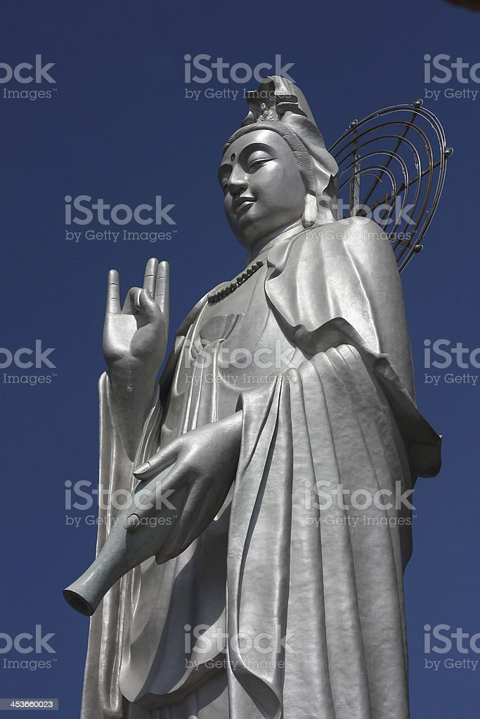 God Kannon Statue royalty-free stock photo