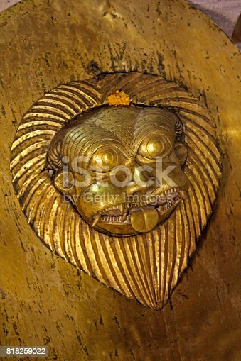 istock god narasimha face at Ramtirth Temple, Ajara, Kolhapur, Maharashtra, India. 818259022