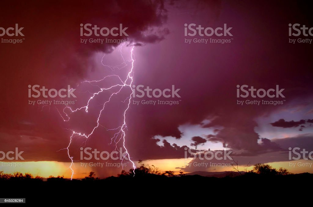 God of Glory Thunders stock photo