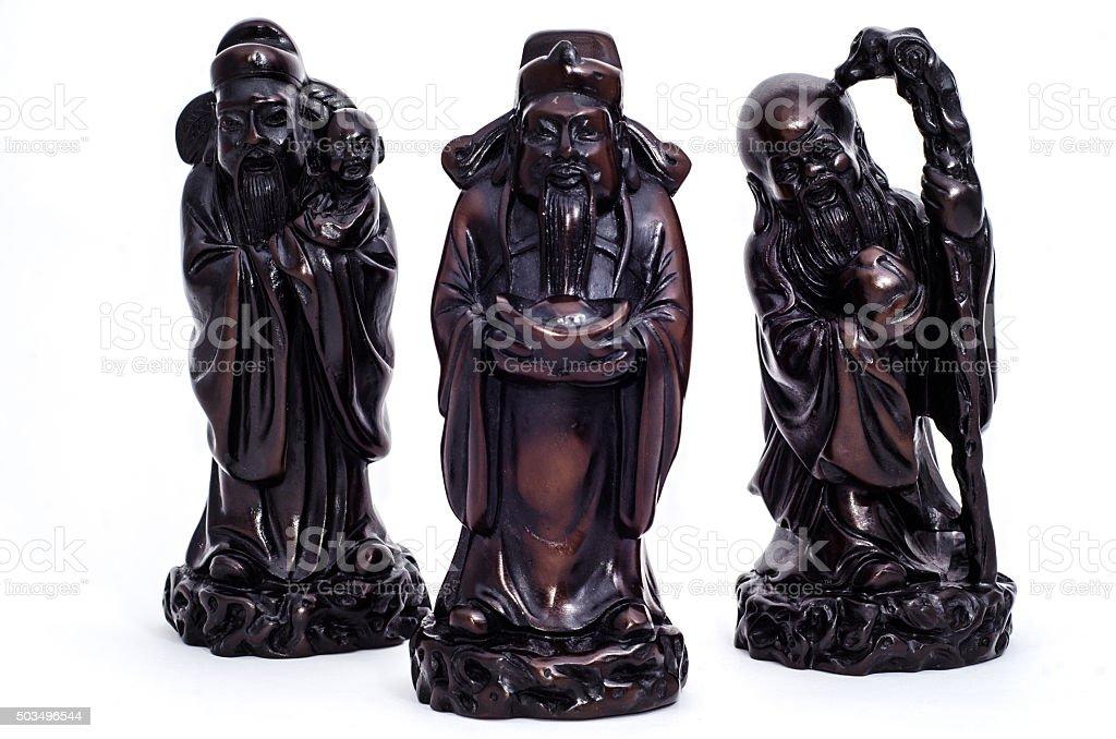 God of Hok,Lok,Siu stock photo
