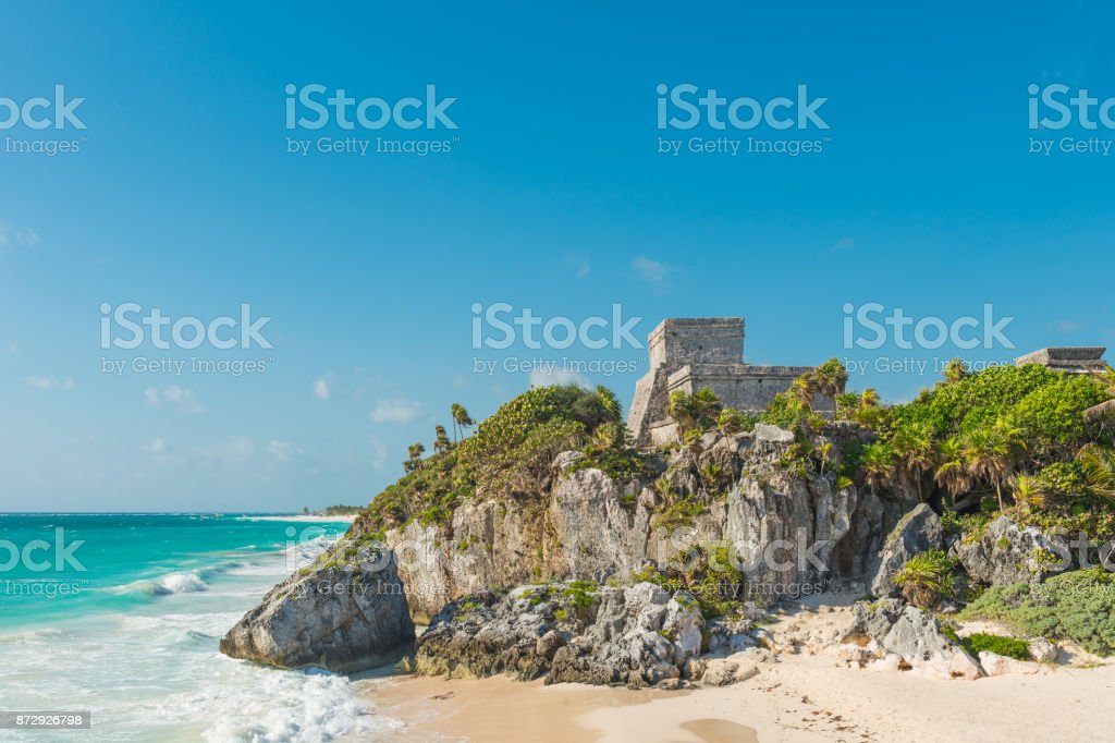 God of Winds temple in Tulum stock photo
