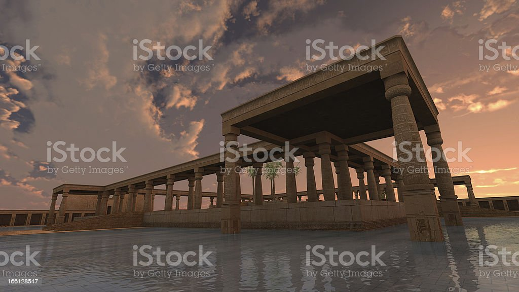 God Ra palace royalty-free stock photo