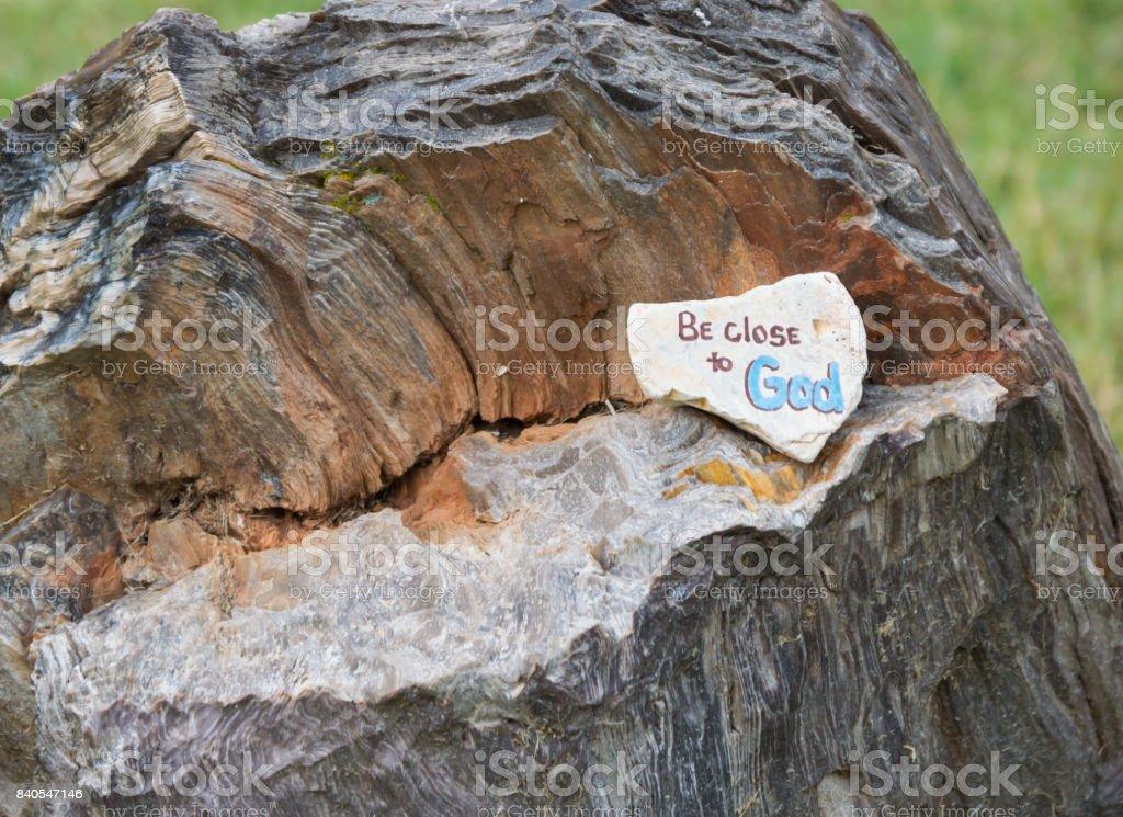 God rock with bokeh effect stock photo