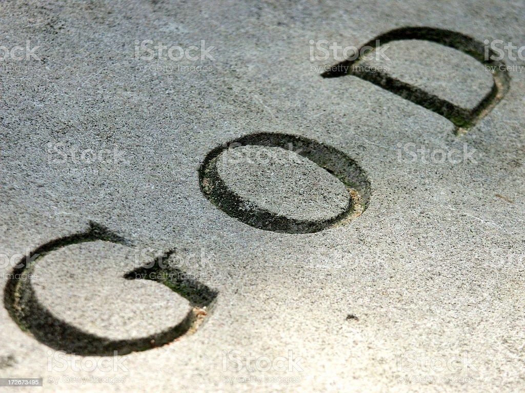God written on stone royalty-free stock photo