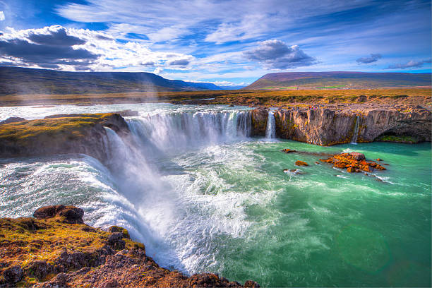 godafoss - waterfall stock photos and pictures