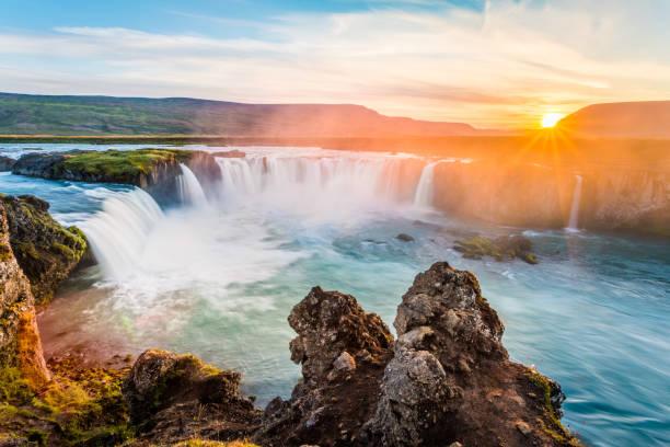 Godafoss, waterfall. Iceland, Europe stock photo