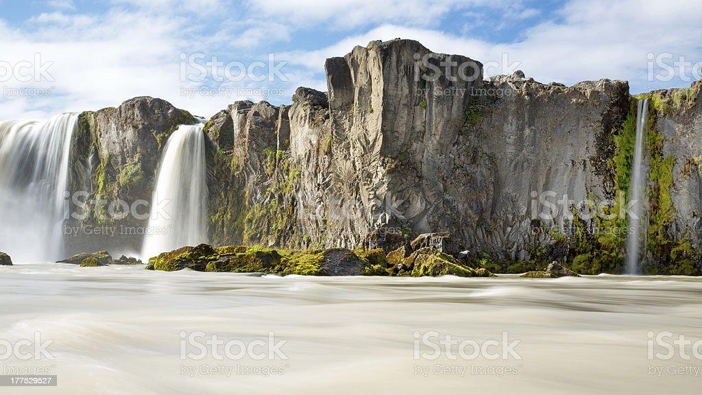 Godafoss waterfall Iceland stock photo
