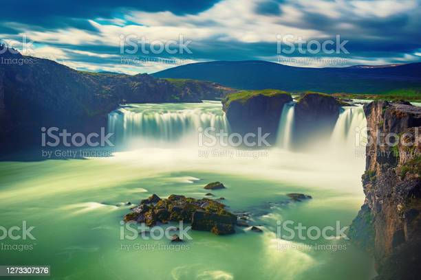 Photo of Godafoss waterfall in Iceland