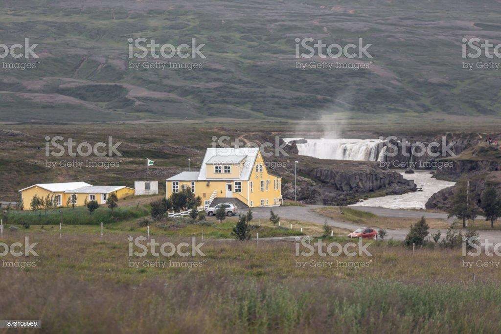 Godafoss Waterfall in Iceland stock photo