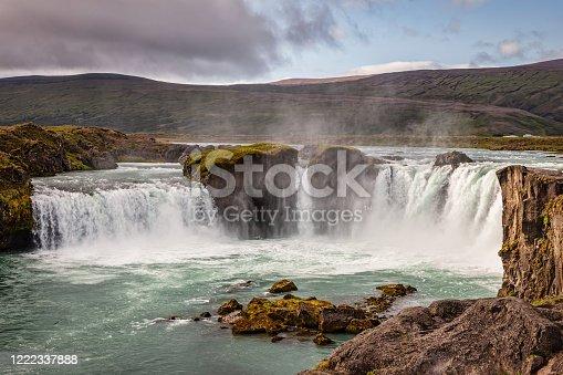istock Godafoss Waterfall Northern Iceland Goðafoss 1222337888