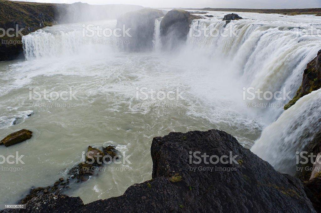 godafoss waterfall royalty-free stock photo