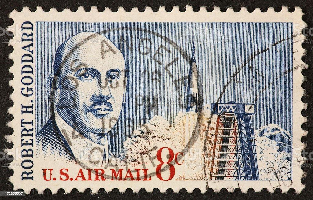 Goddard airmail stamp 1964 royalty-free stock photo