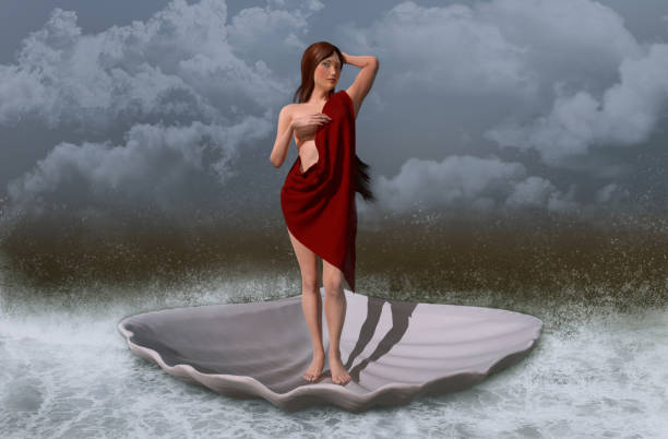 Goddess Aphrodite stock photo
