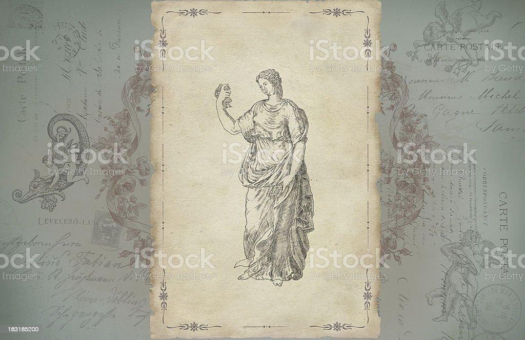 Goddess Flora royalty-free stock photo