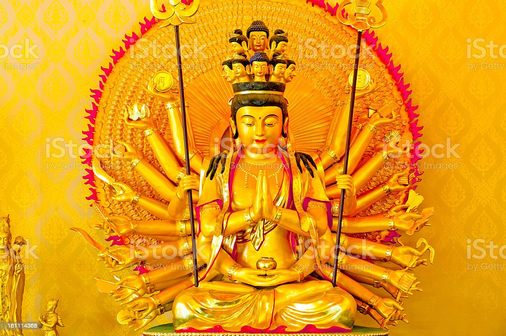 Goddess Guan Yin. royalty-free stock photo