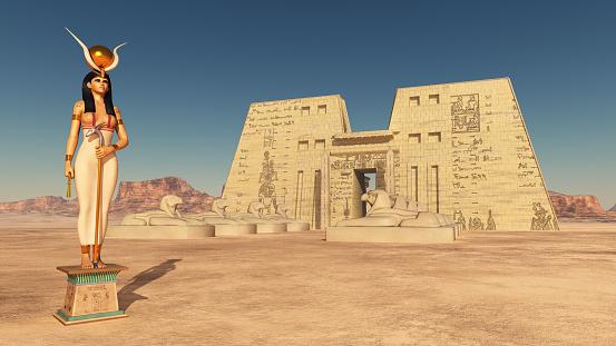 Goddess Hathor and temple of Edfu