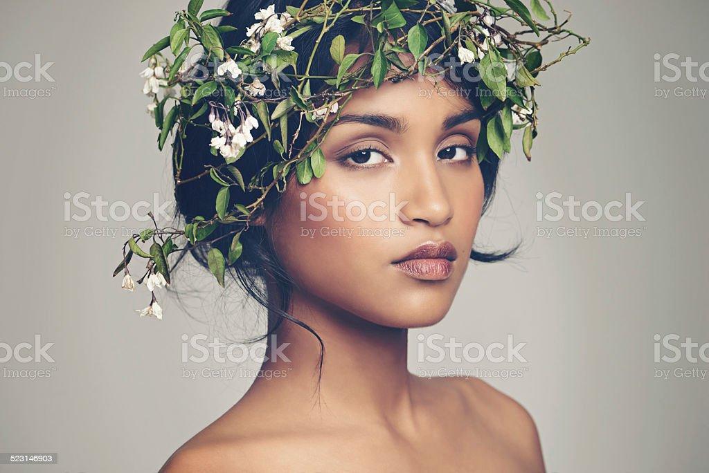 Goddess of nature stock photo