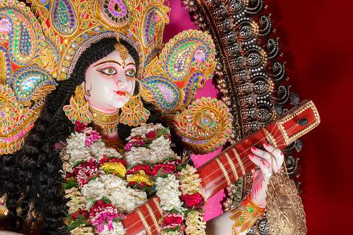 Goddess Saraswati, Kolkata, India