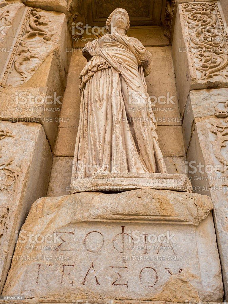 Goddess scrupture in Ephesus. stock photo