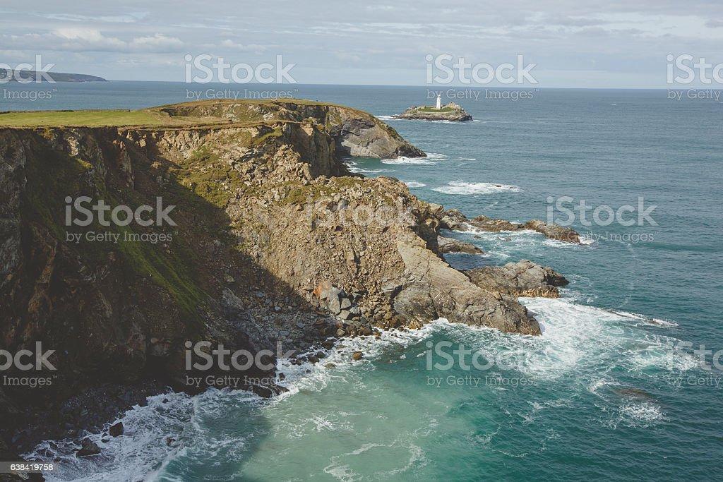 Godrevy Lighthouse - Cornwall stock photo