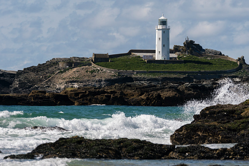 Godrevy Lighthouse near Hayle in Cornwall