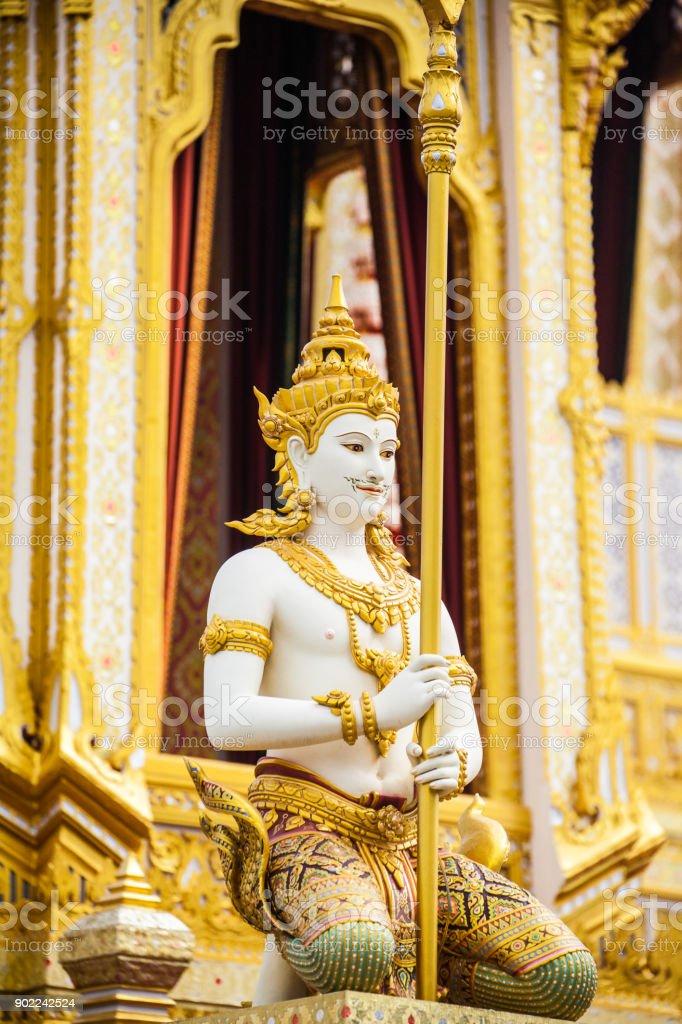 gods around royal castel of King Rama IX stock photo
